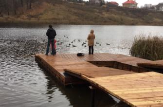 Понтоны в парке у Щёлоковского озера